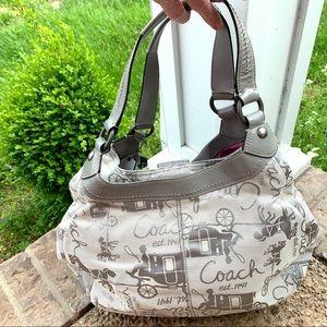 Coach Bags - Coach SOHO HAC Large Hobo Gray Horses shoulder bag